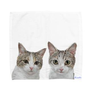 チャビー君とジェミーちゃん 背景なし2 Towel handkerchiefs