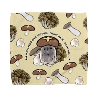 きのこ犬 ペキニーズ フォーン 背景あり Towel Handkerchief