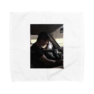 助手席でお昼寝 Towel handkerchiefs