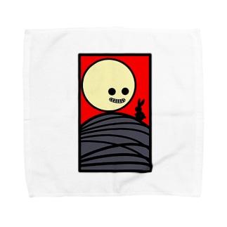 芒に月とウサギもね Towel handkerchiefs