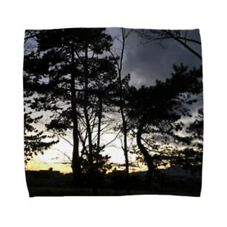シックな景色 Towel handkerchiefs