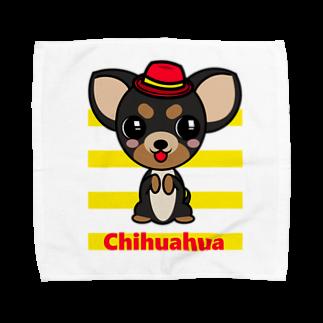 オリジナルデザインTシャツ SMOKIN'のちんちんチワワ Towel handkerchiefs