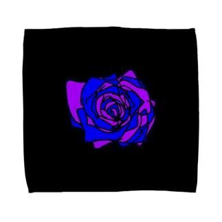 パープルブルー薔薇💜💙🌹 Towel handkerchiefs