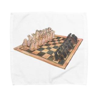 Rabbit chess Towel handkerchiefs