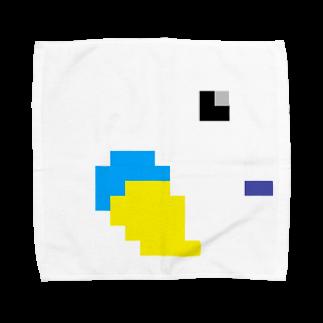 ハル寝止まり木のドット絵(•'θ'•) Towel handkerchiefs