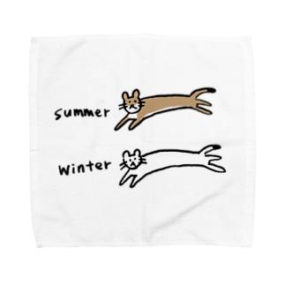夏と冬のオコジョさん Towel Handkerchief
