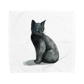 まっくろ子猫 Towel handkerchiefs