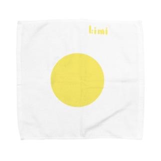 【黄身デザイン】完熟卵Ver. Towel handkerchiefs