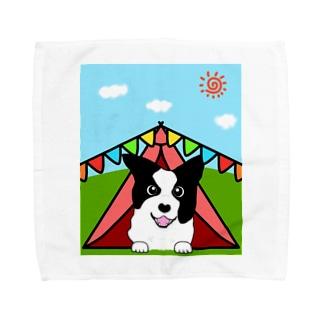 テントの中からどんちゃん Towel Handkerchief