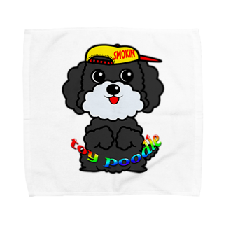 オリジナルデザインTシャツ SMOKIN'のちんちんトイプードル Towel handkerchiefs