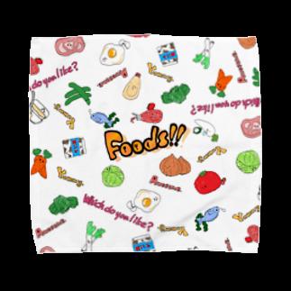 ゆるゆるはうすのFoods!! Towel handkerchiefs