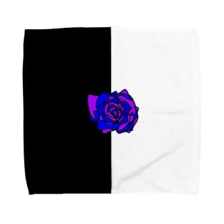 薔薇🌹パープルブルー💜💙 Towel handkerchiefs