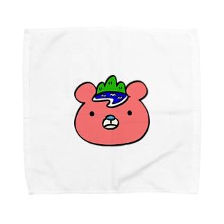 いまじゅくま(顔・ロゴなし) Towel handkerchiefs
