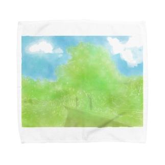 南紗椰 SHOP❁の南紗椰 『青空並木道』 Towel Handkerchief