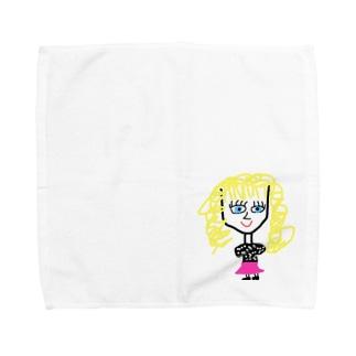 1980's Girl Towel handkerchiefs