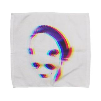 サイケデリックしゃくれ Towel handkerchiefs