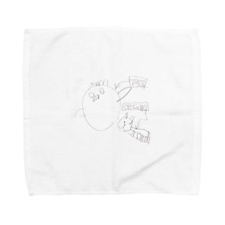 ニワトリさんと猫さん Towel Handkerchief