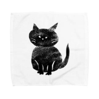 黒猫ちゃん タオルハンカチ
