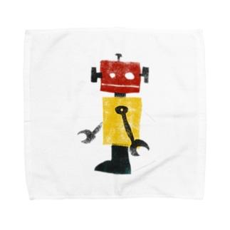 レトロロボット タオルハンカチ