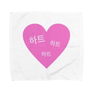 ハート Towel handkerchiefs