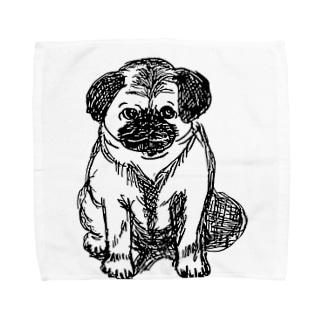 リアルパグたん Towel handkerchiefs
