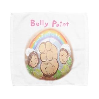 虹と赤ちゃんのベリーペイント タオルハンカチ