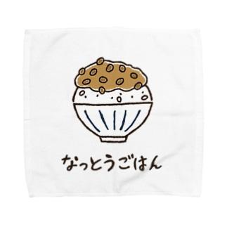 なっとうごはん Towel handkerchiefs