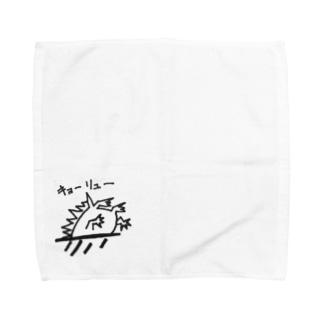 恐竜めり込み Towel handkerchiefs