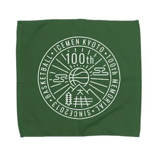 icemen kyoto 100th / green base タオルハンカチ