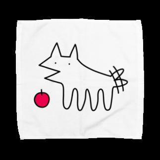 おもち屋の犬とりんご Towel handkerchiefs