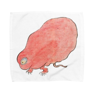 百鬼夜行絵巻 赤い妖怪【絵巻物・妖怪・かわいい】 Towel handkerchiefs