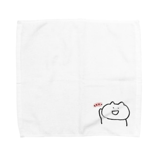ともしびを灯すねこ Towel handkerchiefs