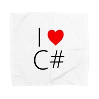 I love C# Towel handkerchiefs