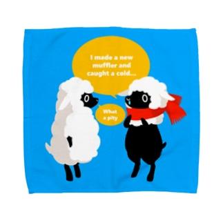 風邪をひいたひつじ Towel handkerchiefs
