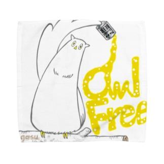 I.gasu owlfree1 【アイガス】 Towel handkerchiefs