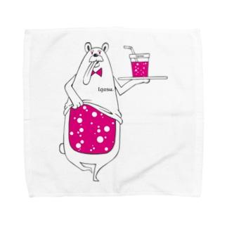 I.gasu peach bear 【アイガス】 Towel handkerchiefs