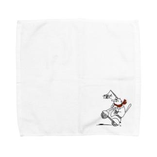 ねこらいだー Towel handkerchiefs