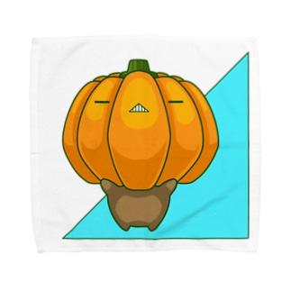 bekkouの瞑想かぼちゃ Towel handkerchiefs