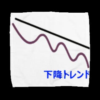 musclerのローソク足(下降) Towel handkerchiefs