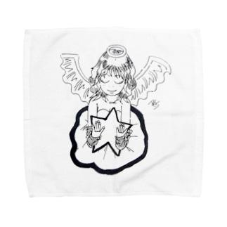 輝く星と天使 Towel handkerchiefs