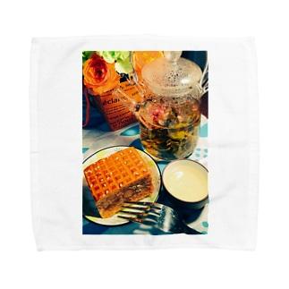 なるちゃんちのアジアン ティータイム Towel handkerchiefs