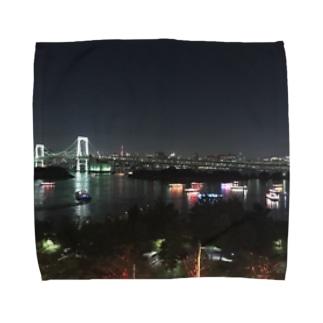 東京らしさ《夜》 Towel handkerchiefs