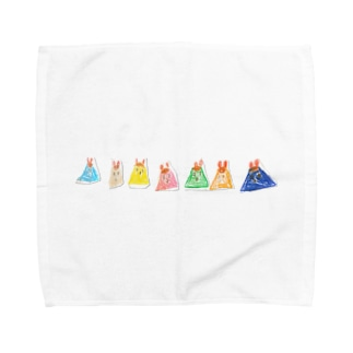 うさぎのプリン Towel handkerchiefs