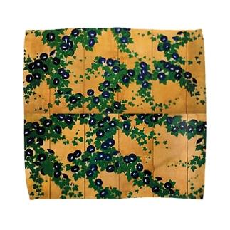 鈴木其一『朝顔図屏風』 Towel handkerchiefs
