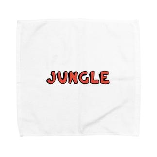 JUNGLE ロゴ  ハンカチ タオルハンカチ