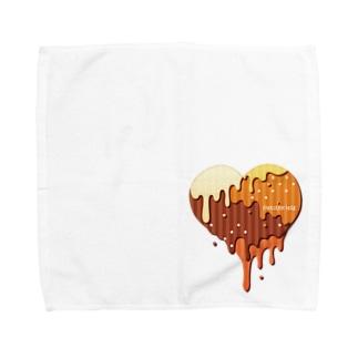 チョコハート Towel handkerchiefs