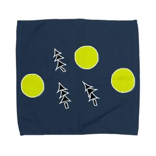夜 ×  灯 × 木 Towel handkerchiefs