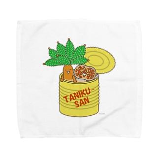 多肉植物たにくさん (空き缶に集合) Towel handkerchiefs