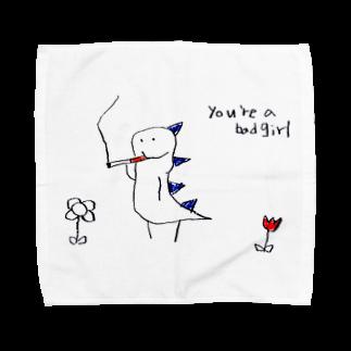 damage inkの喫煙怪獣 Towel handkerchiefs