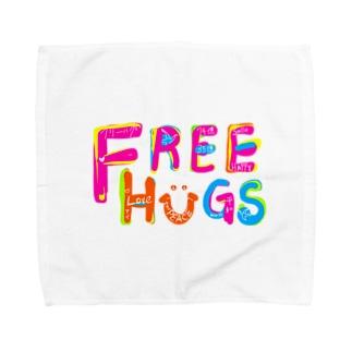 フリーハグ/FREE HUGS タオルハンカチ